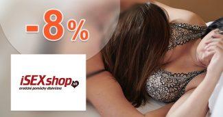 Exkluzívny kód -8% zľava na všetko na iSEXshop.sk