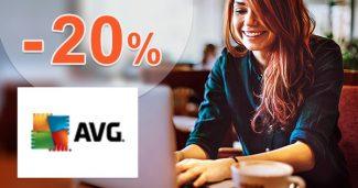 Extra ZĽAVA -20% na produkty AVG na AVG.com