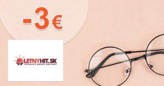 Exkluzívny kód -3€ extra ZĽAVA na LetnyHit.sk
