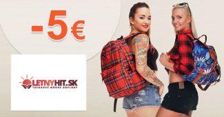 Exkluzívny kód -5€ extra ZĽAVA na LetnyHit.sk