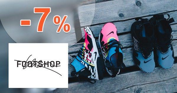 Exkluzívny kód -7% EXTRA ZĽAVA na FootShop