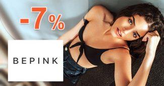 Exkluzívny kód -7% ZĽAVA na všetko na BePink.sk