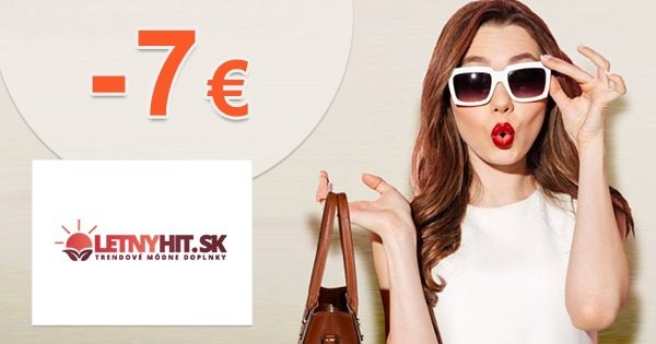 Exkluzívny kód -7€ extra ZĽAVA na LetnyHit.sk