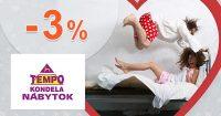 Extra ZĽAVA -3% na VŠETKO na TempoNabytok.sk
