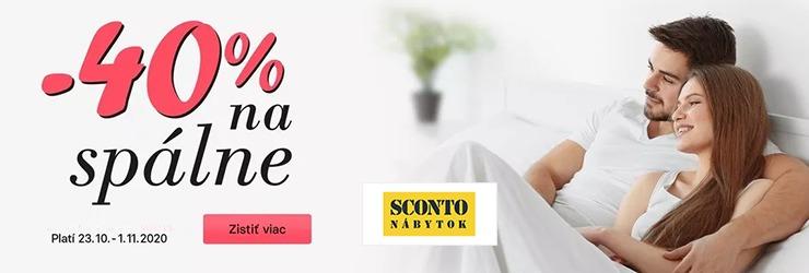 Extra ZĽAVA -40% na spálne na Sconto