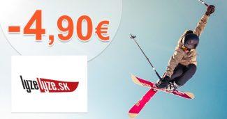 Extra ZĽAVA -4,90€ NA VŠETKO na LyzeLyze.sk