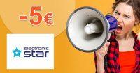 Extra ZĽAVA -5€ na všetko na Electronic-Star.sk