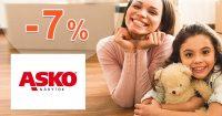 Extra ZĽAVA -7% NA VŠETKO na ASKO-nabytok.sk