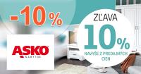 Extra zľava -10% na postele na ASKO-nabytok.sk