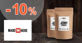 Extra zľava -10% na prvý nákup na MasoHere.sk