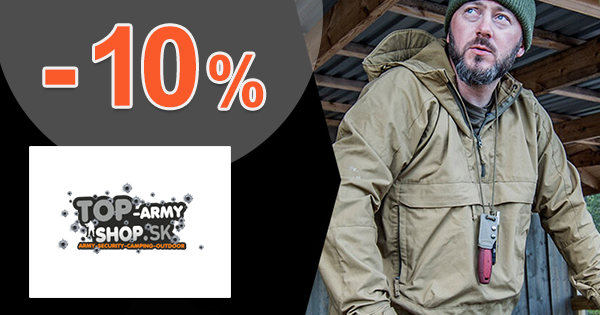 Extra zľava -10% na všetko na Top-ArmyShop.sk
