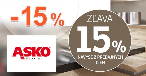 Extra zľava -15% na doplnky na ASKO-nabytok.sk