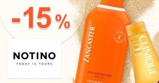 Extra zľava -15% na slnečnú kozmetiku na Notino.sk