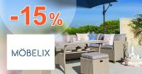 Extra zľava -15% na záhradný nábytok na Mobelix.sk