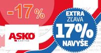 Extra zľava -17% na všetko na ASKO-nabytok.sk