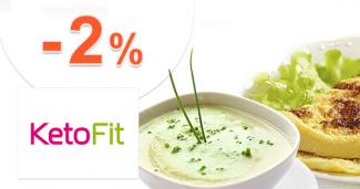 Extra zľava -2% na všetko k nákupu na KetoFit.sk