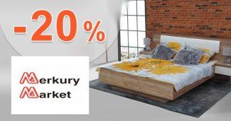 Extra zľava -20% na nábytok na MerkuryMarket.sk