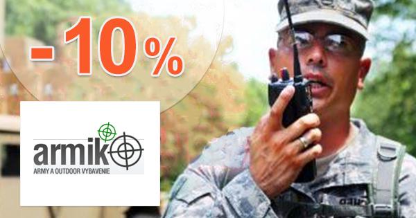 Výpredaj tovaru až -10% zľavy a akcie na Armik.sk
