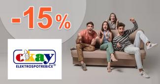 Extra zľava až -15% na vybraný nábytok na Okay.sk
