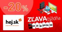 Extra zľavové kódy týždňa až -20% na Hej.sk