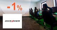 Extra zľava -1% za platbu vopred na DXRacer.sk