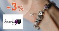 Extra zľava -3% za registráciu na Sperky4u.eu