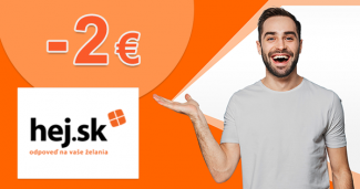 ISIC zľava -2€ na všetko k nákupu na Hej.sk
