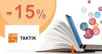 Jarná extra zľava -15% pre 1. stupeň ZŠ na Taktik.sk