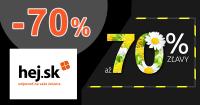 Jarný výpredaj až -70% zľavy na Hej.sk