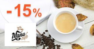 Kávové zľavy -15% na vybrané kávy na ManuCafe.sk