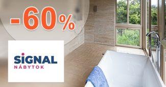Kúpeľňový nábytok až -60% na SIGNAL-nabytok.sk