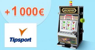 Kasíno EXTRA bonus až 1000€ na TipSport.sk