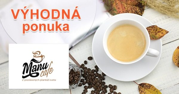 Kávové zľavy na vybrané kávy na ManuCafe.sk