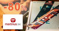 Knižný výber so zľavou až -80% na Martinus.sk