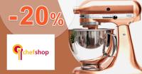 Kuchynské spotrebiče až -20% na ChefShop.sk