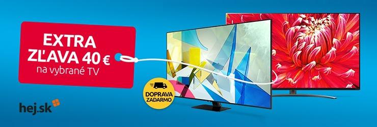 Kupón -40€ na televízory na Hej