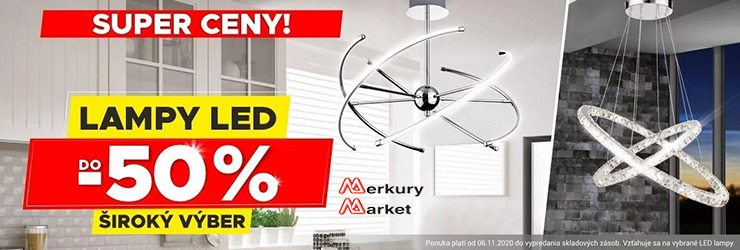 LED lampy až do -50% na MerkuryMarket