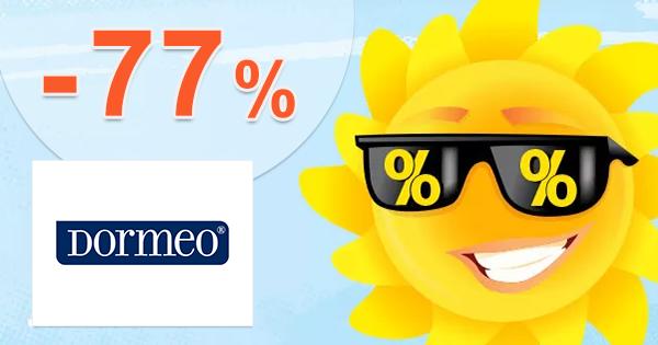 Letný VÝPREDAJ so zľavami až -77% na Dormeo.sk