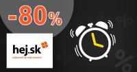 Limitované zľavy až -80% na Hej.sk