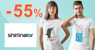Množstevná extra zľava až -55% na Shirtinator.sk