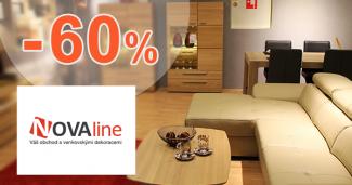 Nábytok až -60% zľavy na Novaline.sk