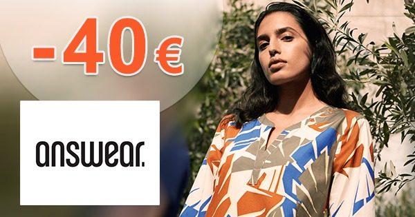 Nákupný majáles! → AŽ -40€ ZĽAVA na Answear.sk
