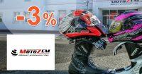 Objemová zľava -3% na všetko na Motozem.sk