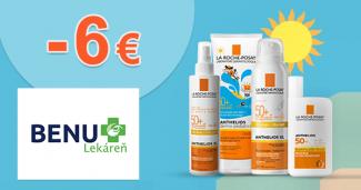 Opaľovacie krémy až -6€ zľavy na BenuLekaren.sk