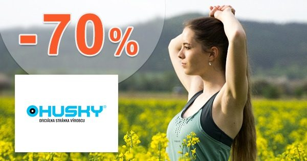 Outlet sortiment so zľavami až -70% na Huskysk.sk