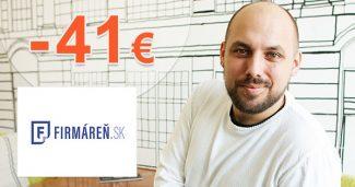 Pohodlné založenie s.r.o. -41€ zľava na Firmaren.sk