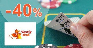 Poker sortiment až do -40% zľavy na Vesely-drak.sk