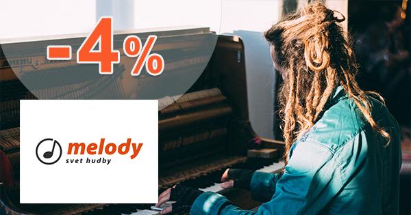 Pri platbe vopred zľava -2% až -4% na Melodyshop.sk
