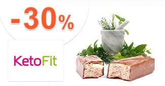 Proteínové tyčinky až do -30% zľavy na KetoFit.sk