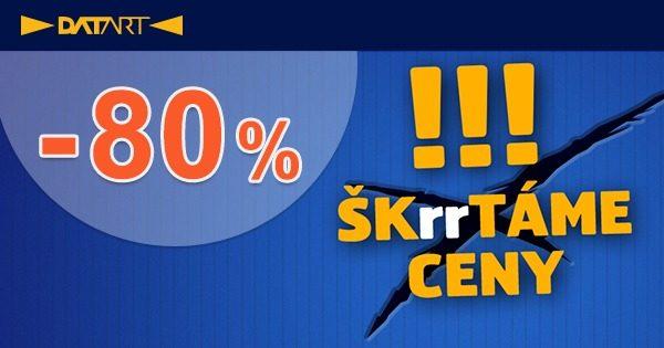 ŠKrrTÁME CENY! Využite zľavy až -80% na Datart.sk